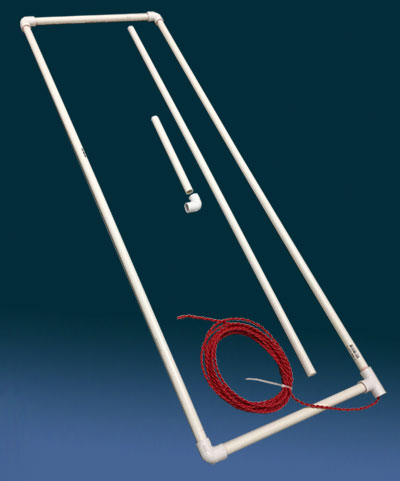 The Preformed Direct Burial PVC-Encased Loop measures 18 inches by 54 inches.